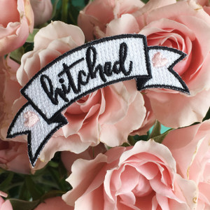 Hitched Patch - Bridal - Wedding  - Iron On Patches - Wildflower Co (4)