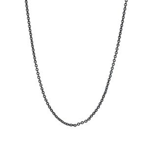 Chain Choker Necklace, Hematite