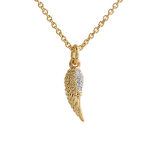 Dainty Gold Angel Wing Necklace - Angel Wing Necklace, Gold - Tiny, Delicate, Guardian Angel, Love - Wildflower + Co.