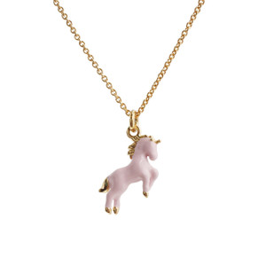 Unicorn Necklace, Pink & Gold