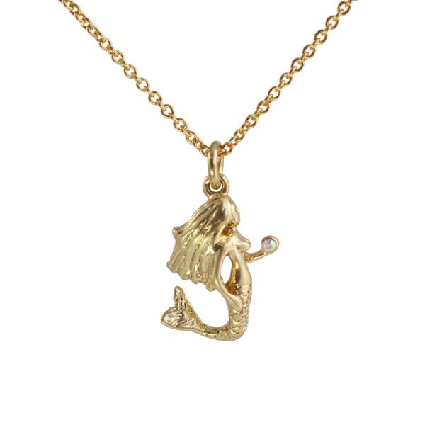 Mermaid necklace gold wildflower co mermaid necklace gold wildflower co jewelry beach summer aloadofball Gallery