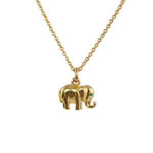 Elephant Necklace, Gold - Good Luck - Wildflower + Co.