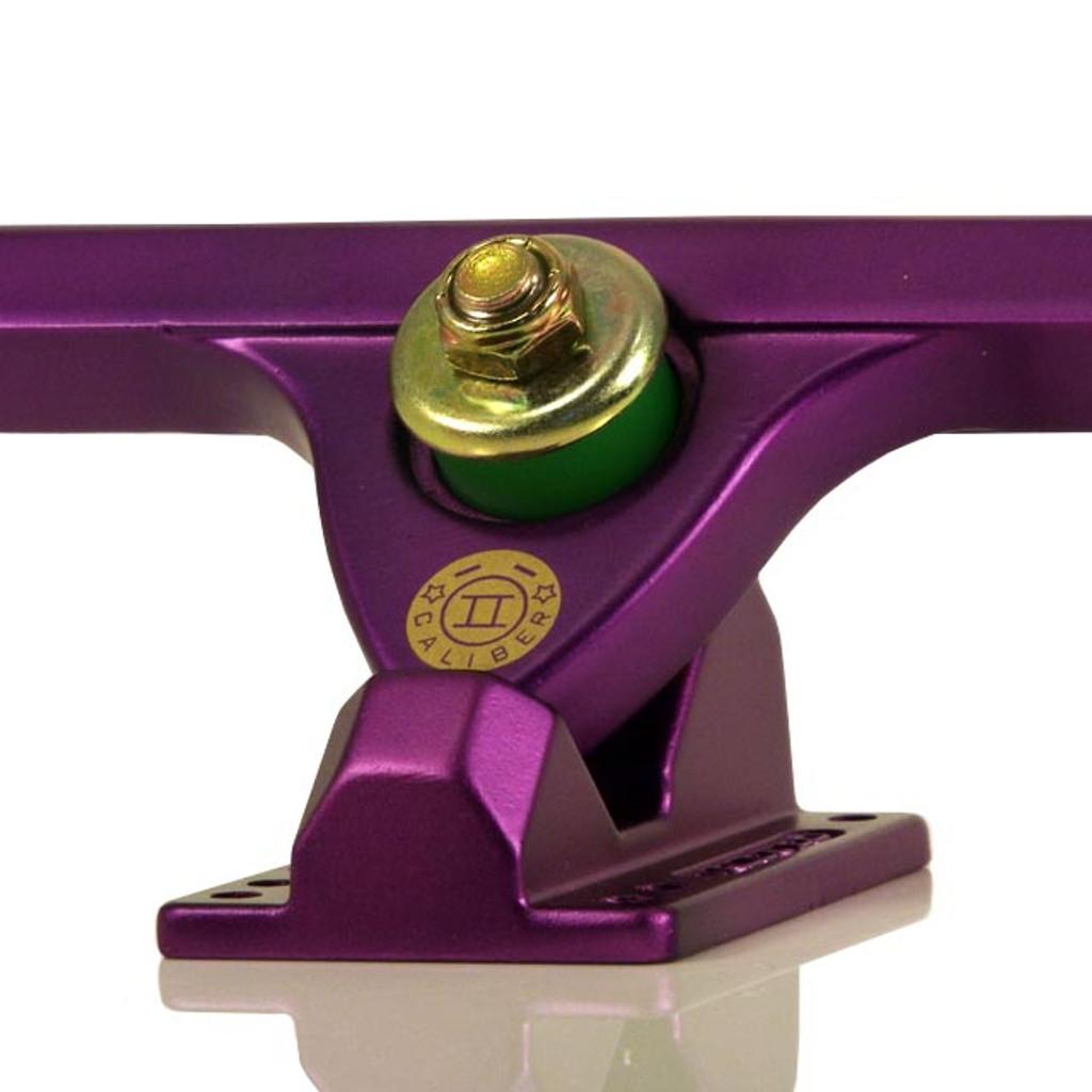 "Caliber II Forty Four Satin Purple Longboard Trucks - 10"""