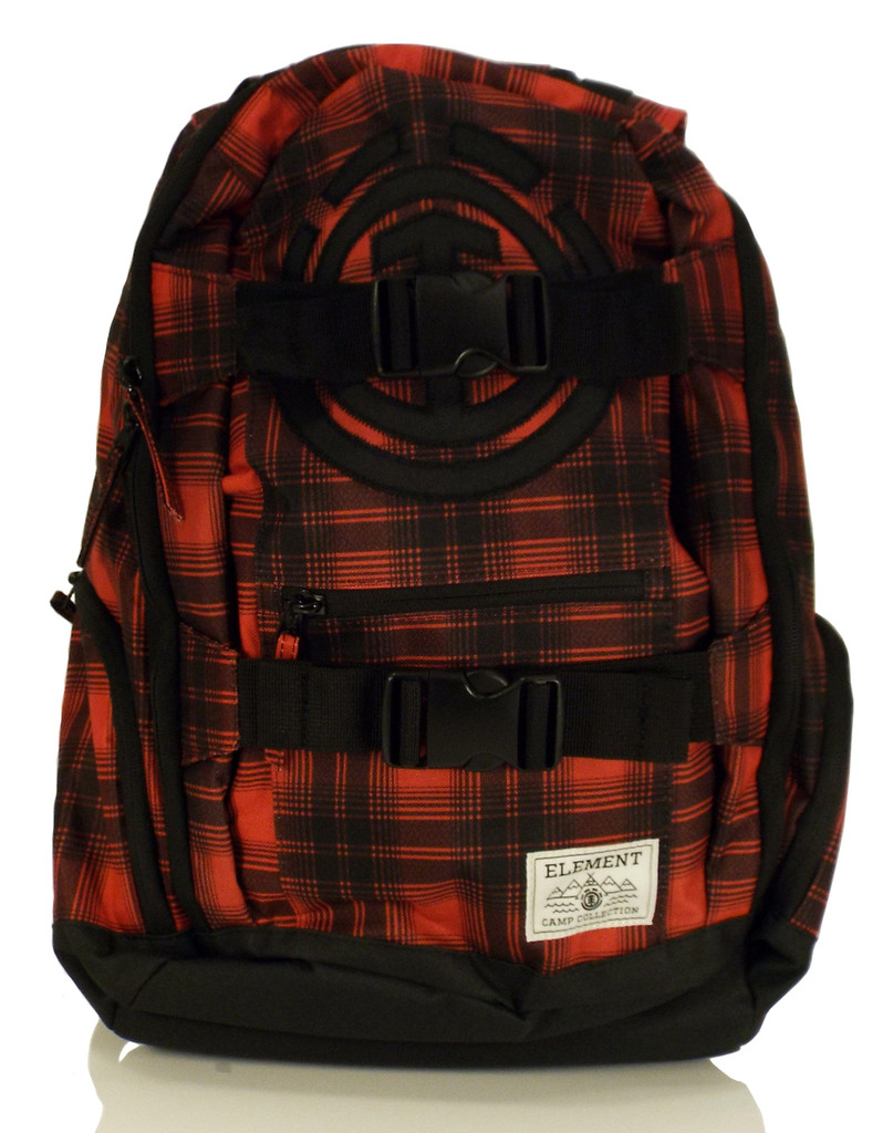 """Element Mohave """"Camp Collection"""" Backpack - Red/Black Plaid"""