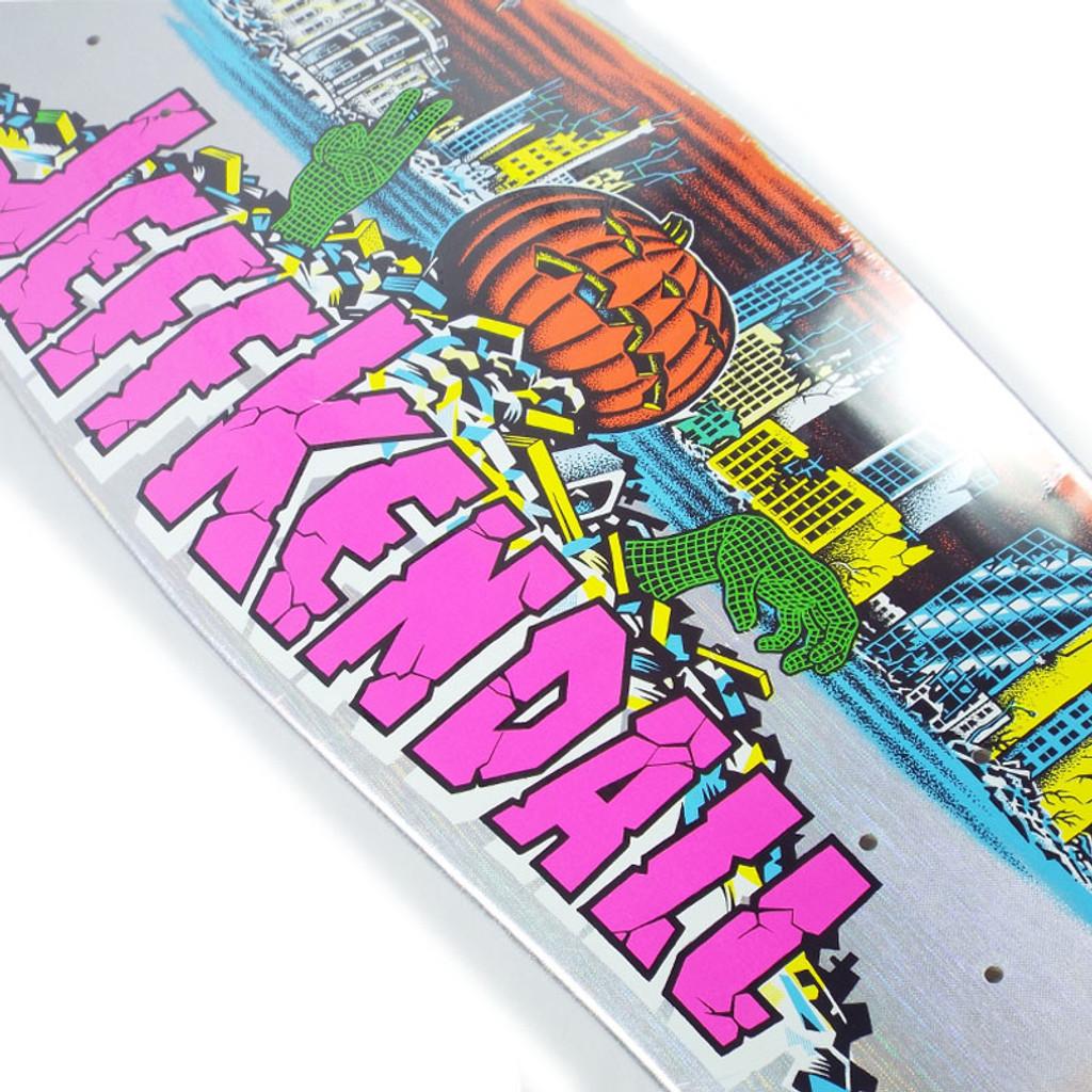 "Santa Cruz Kendall Pumpkin Silver Prismatic Streak Reissue Skate Deck - 10"""