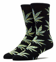 Huf Melange Plantlife Crew Socks - Black/Green