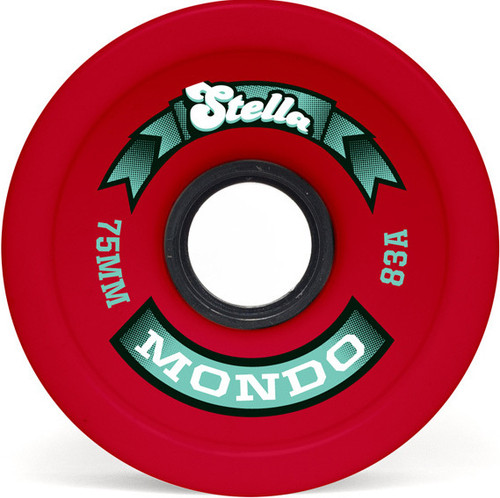 Stella Mondo Red Longboard Wheels - 75mm 83a