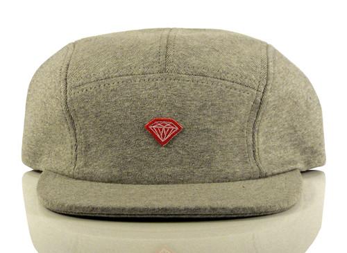 Diamond Brilliant D 5 Panel Hat - Grey
