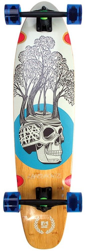 "Landyachtz Bamboo Ripper Tree Skull Longboard Complete - 9"" x 37"""