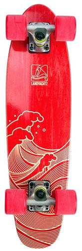 "Landyachtz Mini Dinghy 26 Waves Red Longboard Complete -  7"" x 26"""