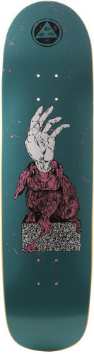 """Welcome Magic Bunny On Son Of Planchette Dark Teal Skateboard Deck - 8.38"""""""