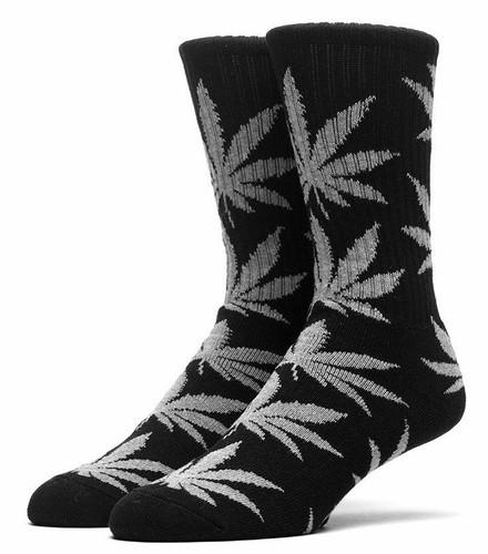 Huf Plantlife Crew Socks - Black/Grey Heather
