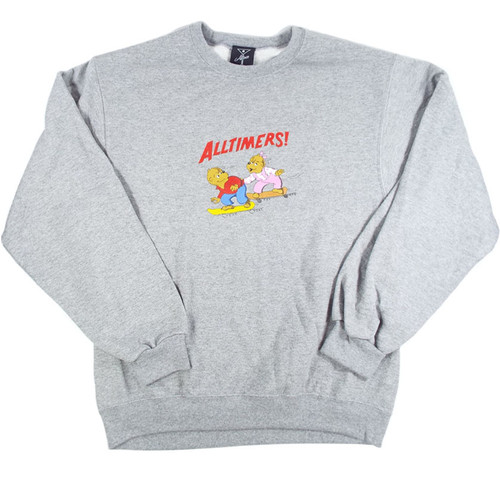 Alltimers Bear Crew Sweater - Grey