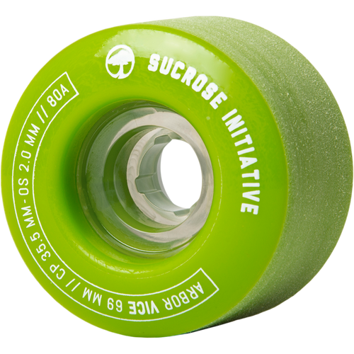 Arbor Vice Green Longboard Wheels - 69mm 80a