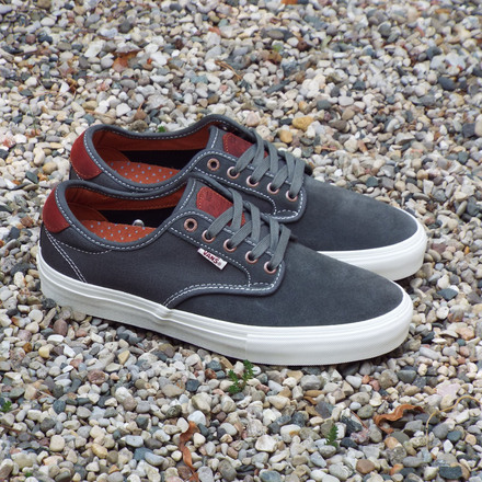 Vans Chima Ferguson Pro Gunmetal/Burnt Henna Shoes now available.