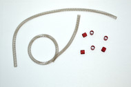 Fuel Line Protector 12in (set of 2) - RED