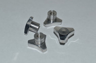 Revo Machined Finish Aluminum Knock Off Wheel Hub Nuts