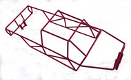 T-Maxx 4908 4907 Red  Stainless Steel Full Roll Cage