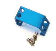 T-Maxx and E-Maxx Blue Anodized Steering Servo Cover