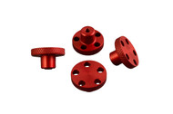T-Maxx E-Maxx Red Anodized Aluminum Knock Off Wheel Hub Nuts Set of 4