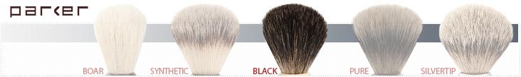 Parker Shaving Brush Grades - Black Badger