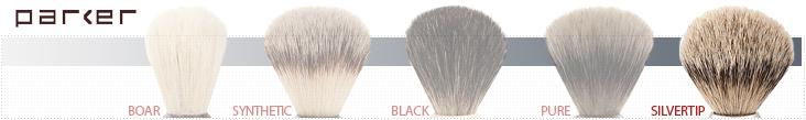 Parker Shaving Brush Grades - Silvertip Badger