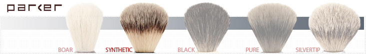 Parker Shaving Brush Grades - Synthetic Bristles