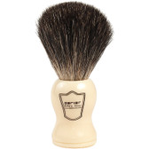 100% Black Badger Shave Brush with Ivory Handle