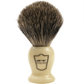 "Parker Safety Razor 100% Pure Badger Bristle ""Classic"" Ivory Handle Shaving Brush"