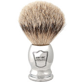 Parker Safety Razor 100% Silvertip Badger Bristle Shaving Brush (Chrome Handle)