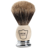 Parker Safety Razor 100% Best Badger Bristle Shaving Brush -- White & Chrome Handle