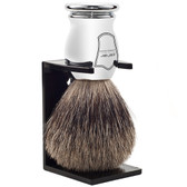 Chrome Handle Pure Badger Shaving Brush
