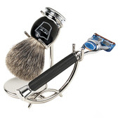 Black Fusion Pure Badger 3-Piece Shave Set