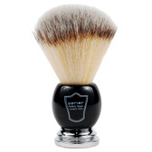 Parker Black & Chrome Handle Synthetic Shaving Brush and Stand