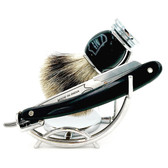 Parker SRB Shavette & Pure Badger 3-Piece Shave Set