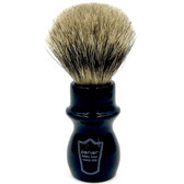 Parker Black Handle Deluxe Pure Badger Mug Shave Brush & Stand