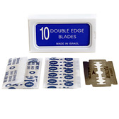 "120 Crystal ""SUPER +"" Stainless Steel Platinum Coated Double Edge Safety Razor Blades A.K.A Israeli Personnas"