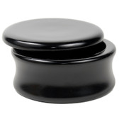 Genuine Mango Wood Shave Soap Bowl - Black Laquer from Parker Safety Razor