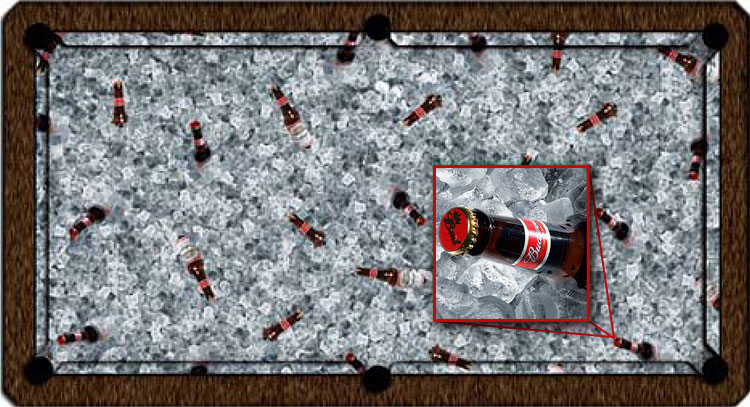 Budweiser Custom Pool Table Felt
