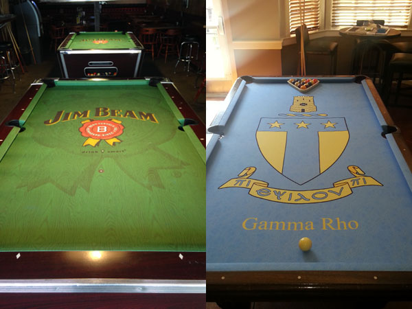 Awesome Jim Beam And Fraternity Custom ArtScape Pool Table Felt