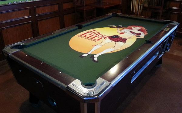 Perfect Titled Kilt Custom ArtScape Pool Table Felt