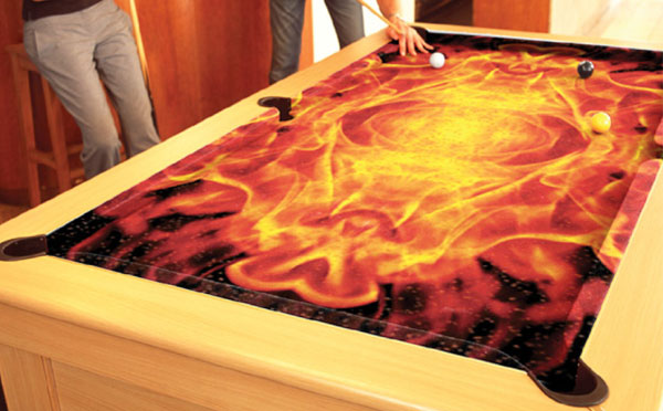 Flames Custom ArtScape Pool Table Felt