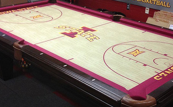 Iowa State Cyclones Custom ArtScape Pool Table Felt