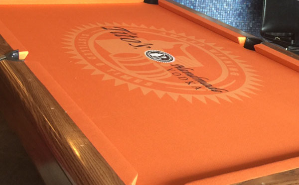 Tito's Vodka Custom Pool Table Felt
