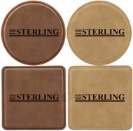 Custom Laser Engraved Square Leatherette Coaster