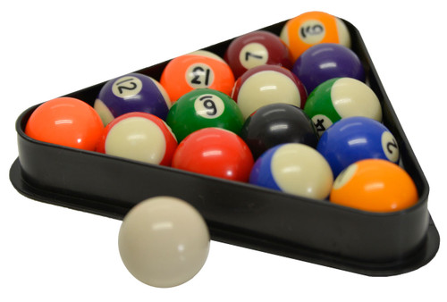 Incroyable Miniature Pool And Billiard Balls Set By Sterling   1 1/2u201d   With Triangle  Rack
