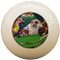 Custom Pool Cue Ball - Dogs Playing Pool