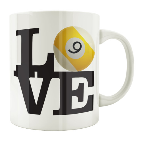 Love 9-Ball 11oz. Coffee Mug
