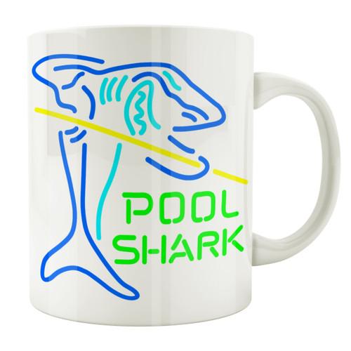 Neon Pool Shark 11oz. Coffee Mug
