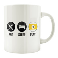 Eat Sleep Play 9-Ball 11oz. Coffee Mug